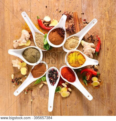allspices- set of spices and ingredients