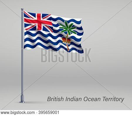 Waving Flag Of British Indian Ocean Territory - Territory Of Uni