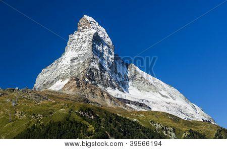 Matterhorn Mountain, Landmark Of Swiss