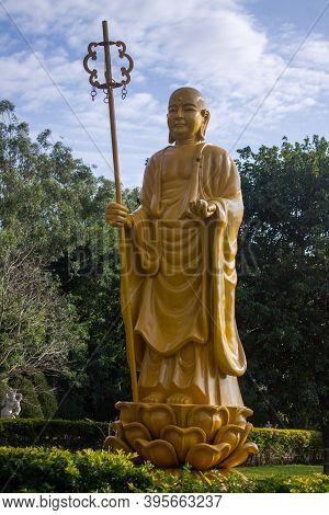 Statue Of  Budha In The Garden In Foz Do Iguaçú