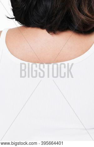 Size inclusive fashion white tank top mockup