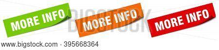 More Info Sticker. More Info Square Isolated Sign. More Info Label