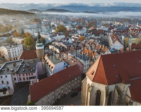 Aerial View Of Jelenia Gora. Jelenia Gora, Lower Silesia, Poland.