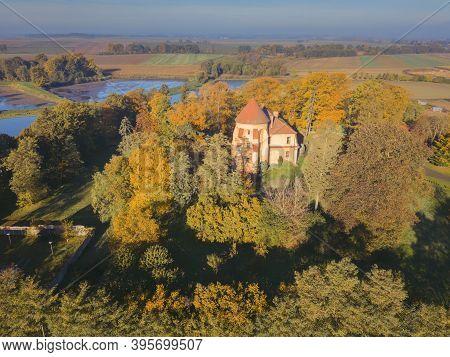 Dobra Castle In Dobra. Dobra, Lower Silesia, Poland.
