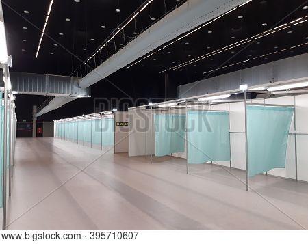 Katowice, Poland - November 12, 2020: Temporary Field Hospital For Covid-19 (coronavirus Disease) Ep
