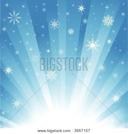Snow burst blue