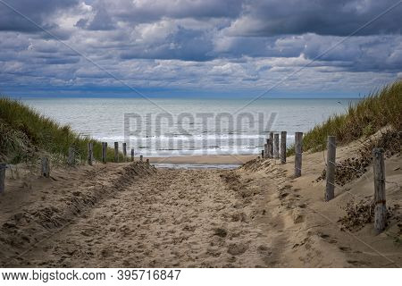 Image Of The Katwijk Beach And Dunes, Netherlands