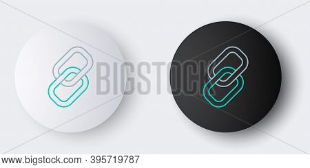 Line Chain Link Icon Isolated On Grey Background. Link Single. Hyperlink Chain Symbol. Colorful Outl