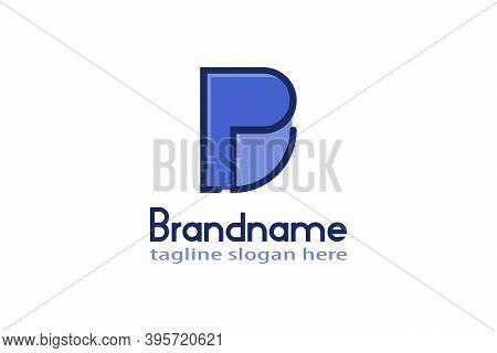Creative Letter P Or Pd Logo Line Art Design Concept, Modern And Elegant Logo Design.