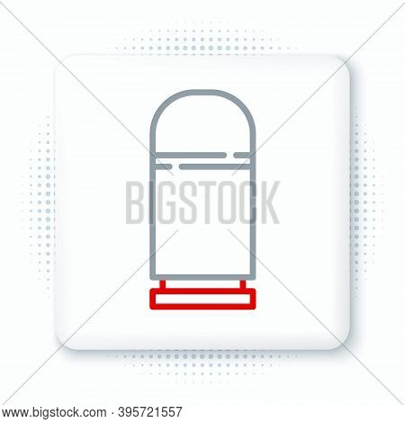Line Cartridges Icon Isolated On White Background. Shotgun Hunting Firearms Cartridge. Hunt Rifle Bu