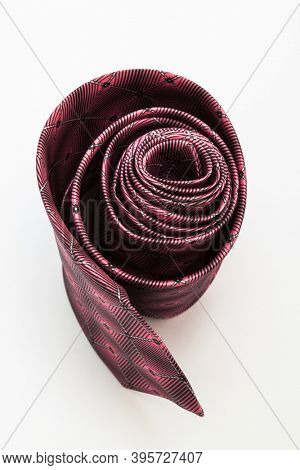 red tie on a white background