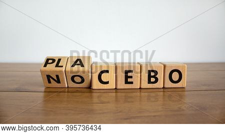 Nocebo Or Placebo. Turned Cubes And Changed The Word 'placebo' To 'nocebo', Or Vice Versa. Beautiful