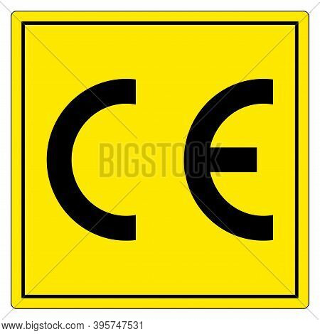 Ce Mark Symbol Sign, Vector Illustration, Isolate On White Background Label .eps10