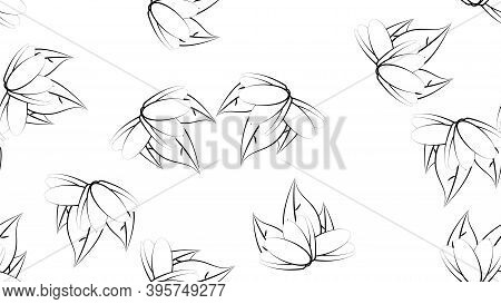 Pistachios On A White Background, Vector Illustration, Pattern. Nuts For Food And Drinks. Green Pist