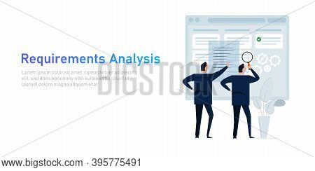 Requirement Analysis In Business Or System Development Creating Software Requirement And Specificati