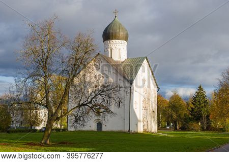 View Of The Medieval Church Of The Transfiguration Of The Savior On Ilyin Street On A October Aftern