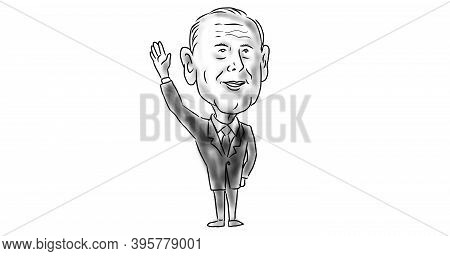 Nov 21, 2020, Auckland, New Zealand: Illustration Of American 46th President Elect Democrat Joe Bide