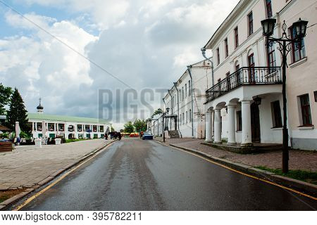 Street In The Historical Center Of Suzdal, Russia. Suzdal Is The Main Historical City Of Central Rus