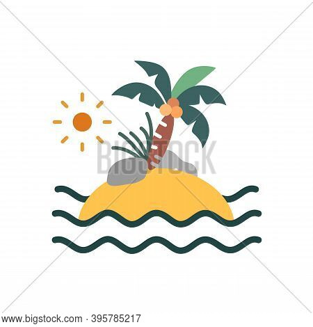 Island Icon Isolated On White Background From Pirate Collection. Island Icon Trendy And Modern Best