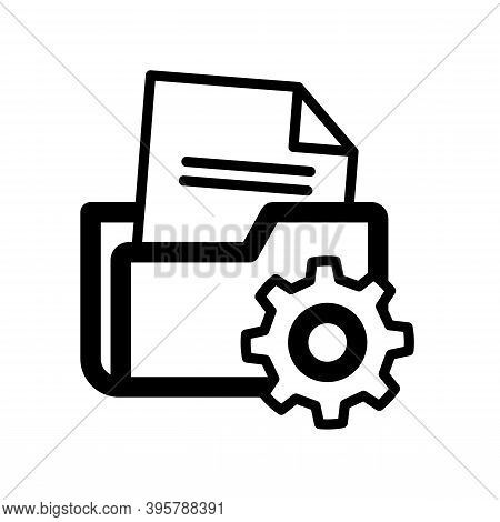 Folder Management Icon Isolated On White Background From Seo And Website Collection. Trendy And Mode