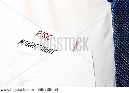 Risk Management Inscription. Business Analysis And Assessment.