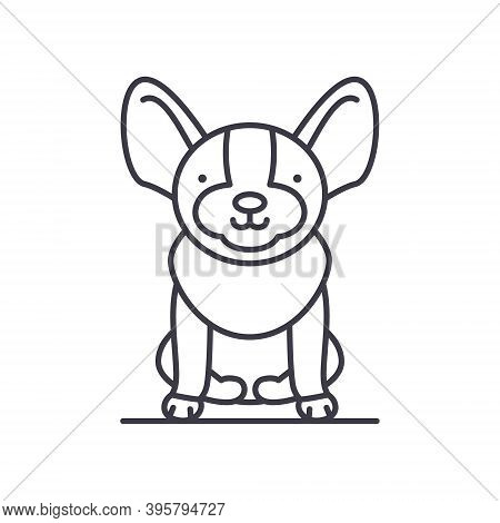 Dog Icon, Linear Isolated Illustration, Thin Line Vector, Web Design Sign, Outline Concept Symbol Wi