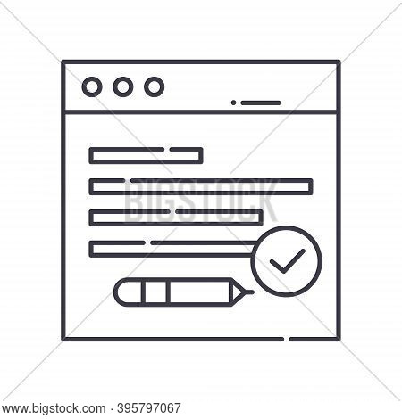 Dns Management Icon, Linear Isolated Illustration, Thin Line Vector, Web Design Sign, Outline Concep