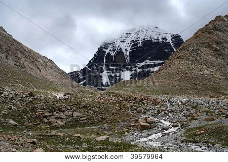 Mount Kailash - holy mountain in the Himalaya, Central Tibet poster