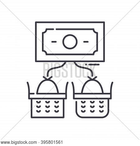 Diversification Icon, Linear Isolated Illustration, Thin Line Vector, Web Design Sign, Outline Conce