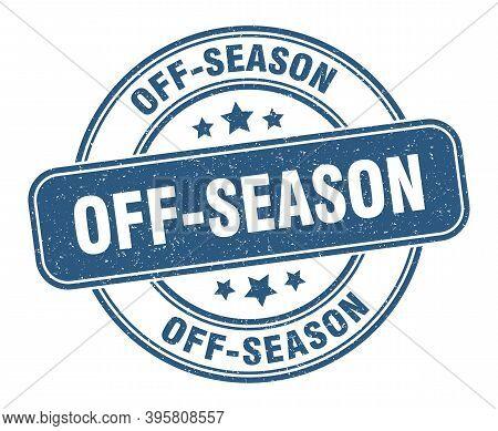 Off-season Stamp. Off-season Label. Round Grunge Sign