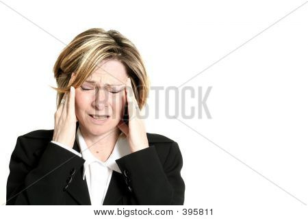 Businesswoman Migraine
