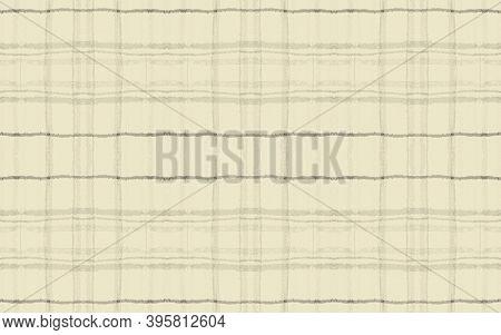 Grey Plaid Pattern. Seamless Picnic Fabric. Buffalo Cloth. Yellow Rustic Celtic Material. Fall Plaid