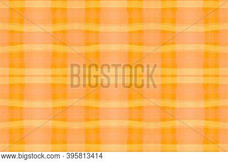 Summer Checks Print. Watercolor Picnic Flannel. Irish Stripes For Kilt Design. Seamless Autumn Check