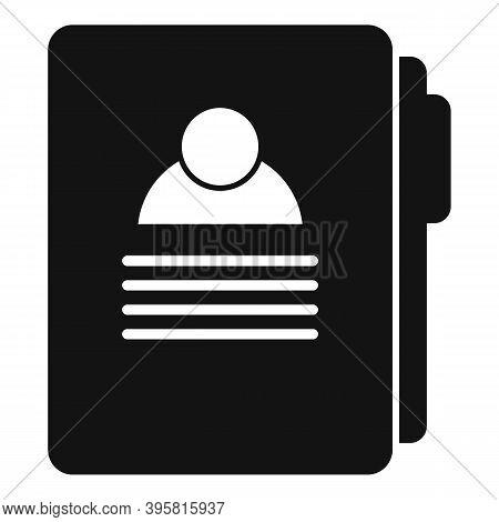 Headhunter Man Folder Icon. Simple Illustration Of Headhunter Man Folder Vector Icon For Web Design