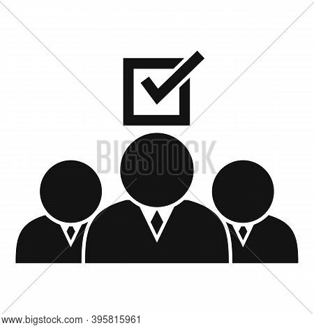 Group People Headhunter Icon. Simple Illustration Of Group People Headhunter Vector Icon For Web Des