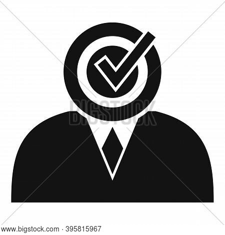 Approved Office Workker Icon. Simple Illustration Of Approved Office Workker Vector Icon For Web Des