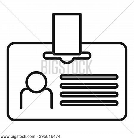 Headhunter Id Card Icon. Outline Headhunter Id Card Vector Icon For Web Design Isolated On White Bac