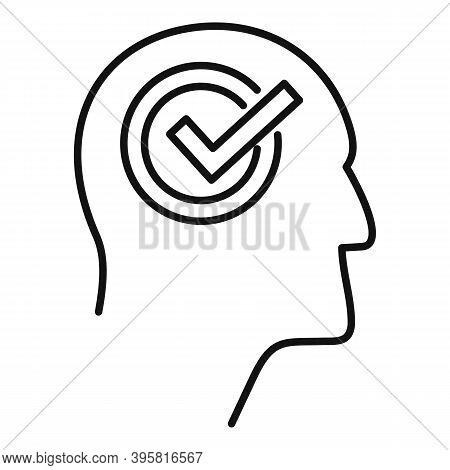 Approved Job Recruiter Icon. Outline Approved Job Recruiter Vector Icon For Web Design Isolated On W