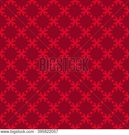 Christmas Holiday Pattern. Elegant Vector Geometric Seamless Texture. Abstract Ornament With Small F