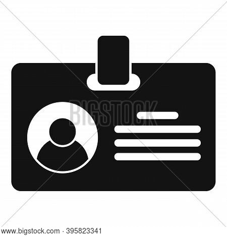 Recruiter Id Card Icon. Simple Illustration Of Recruiter Id Card Vector Icon For Web Design Isolated