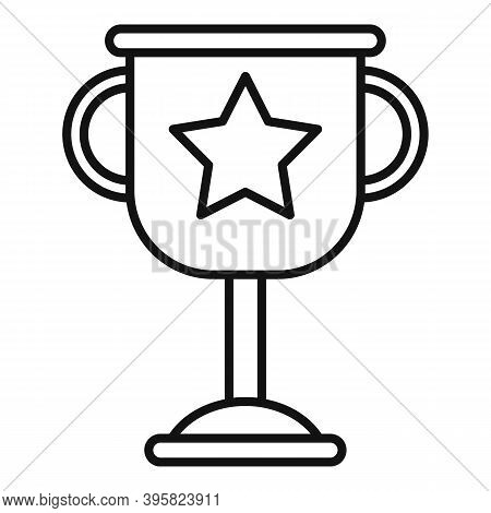Recruiter Cup Icon. Outline Recruiter Cup Vector Icon For Web Design Isolated On White Background