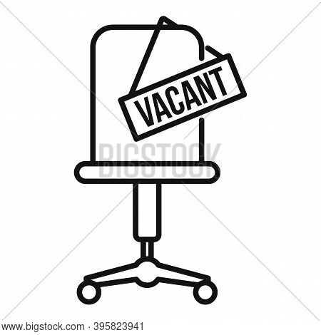 Recruiter Vacant Work Place Icon. Outline Recruiter Vacant Work Place Vector Icon For Web Design Iso