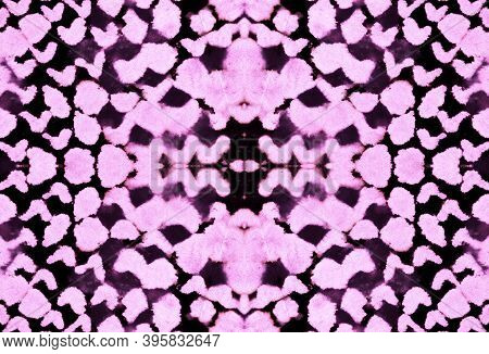 Seamless Cobra Pattern. Cobra Or Serpent Wild Surface. Fashion Exotic Background. Pink And Black Col