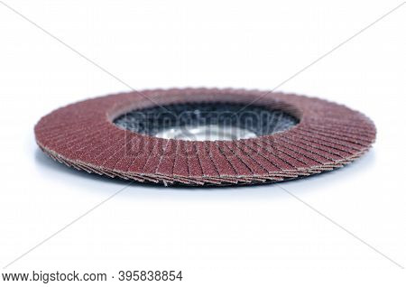 Flap Disc For Grinder On White Background Isolation