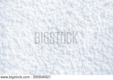 White Snow Winter Texture. Christmas Holiday Background. Seasonal Fresh White Colour Snow Nature Bac