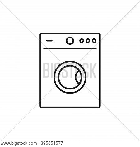 Washer Icon Vector. Washer Thin Line Design Isolated Illustration.