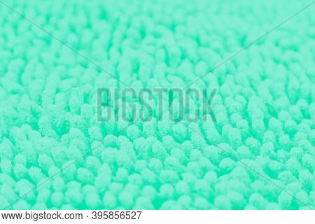 Green Blurred Abstract Background With Light Spots, Patchy