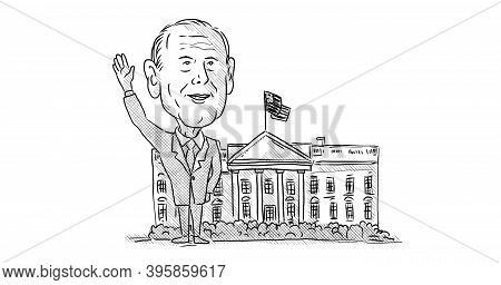 Nov 22, 2020, Auckland, New Zealand: Caricature Illustration Of American 46th President Elect Democr