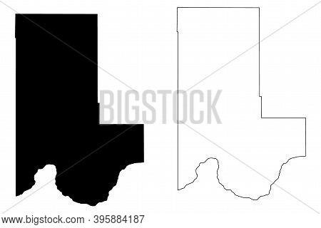 Ellis County, Oklahoma State (U.S. county, United States of America, USA, U.S., US) map vector illustration, scribble sketch Ellis map