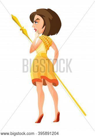 Ancient Greek Goddess Hera. Mythology God Character Olympian. Fantasy Girl In Beautiful Dress. Isola